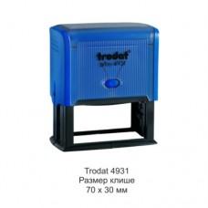4931 Оснастка для штампа 70*30мм синяя, Trodat