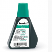 7011 Краска штемпельная зелен.28мл на водн.основе, Trodat