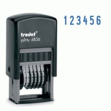 4836 Нумератор 6 разрядный  3.8мм., Trodat