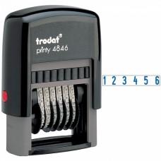 4846 Нумератор 6 разрядный  4 мм., Trodat