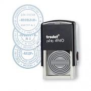 4940/R2 Самонаборная двухкруг.печать/блист.черная, Trodat