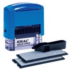 4913/DB P2  Штамп самонаборный 5 строчный IDEAL 58х22мм. синий ,2 кассы, Trodat